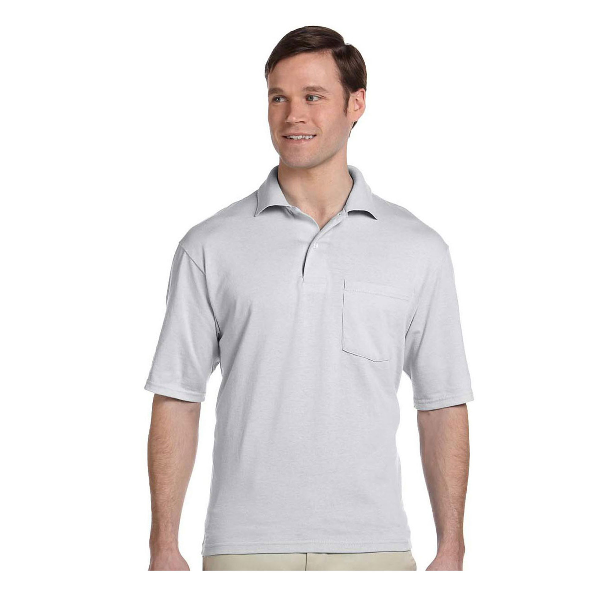 JERZEES - Jerzees Men's Five Point Left Chest Pocket Polo Shirt