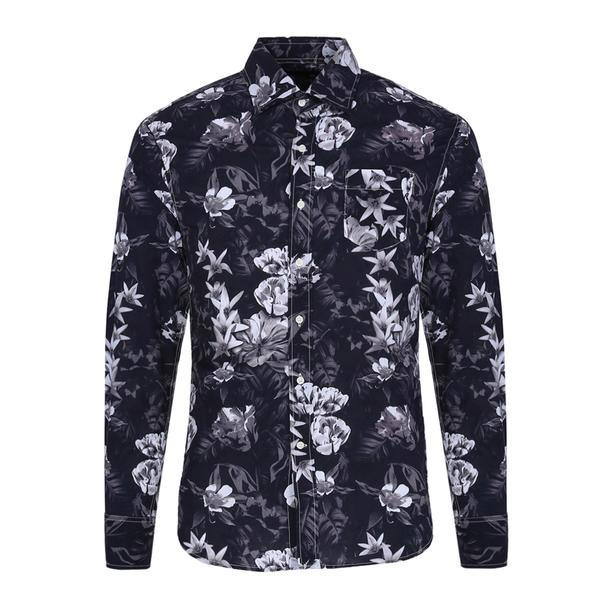 Replay Casual Shirts, Black Printed Shirt for Men at Thecollective.in