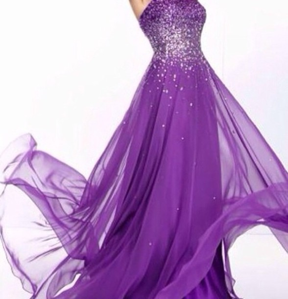 Mori Lee purple dress available for $390 at promgirl.com - Wheretoget