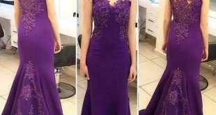 ZYLLGF Bridal Long Purple Evening Gowns Mermaid Sleeveless Cheap