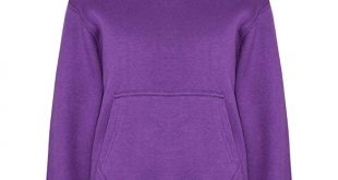 Amazon.com: Kids Girls Boys Sweatshirt Tops Plain Purple Hooded