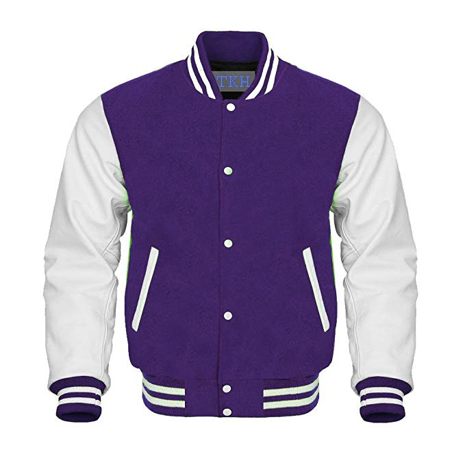 Design Custom Jackets Letterman Baseball Varsity Jacket White
