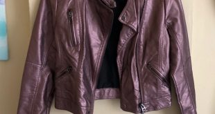 Topshop Jackets & Coats | Purple Metallic Leather Jacket | Poshmark