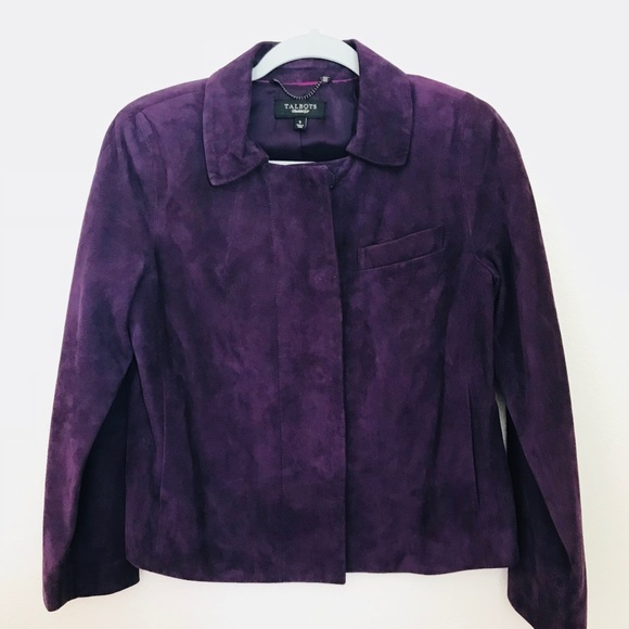Talbots Jackets & Coats | Leather Purple Jacket | Poshmark