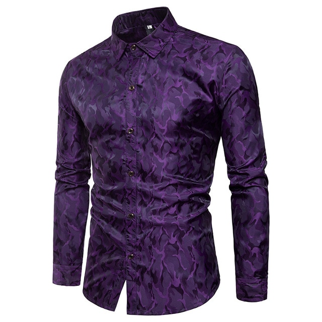 Purple men's shirts
