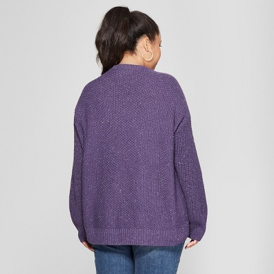 Women's Plus Size Pullover Sweater - Universal Thread™ Purple 1X