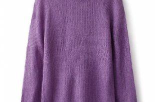 Classic Pullover Purple Sweaters Sweater Dresses For Women
