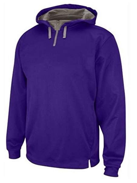 Amazon.com: Majestic Men's Therma Base Fleece Purple Pullover Zip