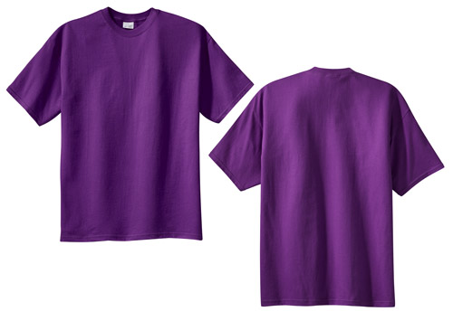 Basic Blank Purple T-Shirt, Short-Sleeves, Cotton