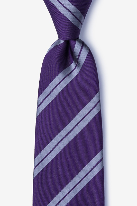 Dark Purple Silk Blackwater Tie | Ties.com