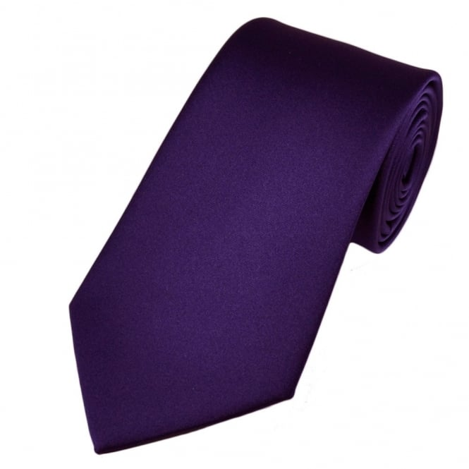 Plain Purple Satin Tie from Ties Planet UK