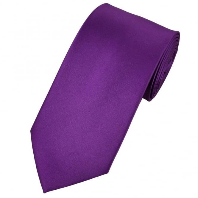 Plain Bright Purple Satin Tie from Ties Planet UK