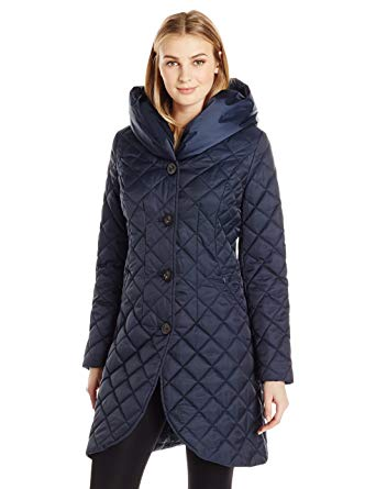 Amazon.com: Lark & Ro Women's Quilted Shawl Collar Tulip Jacket with