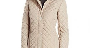 Amazon.com: Tommy Hilfiger Women's Long Quilted Jacket with Hood