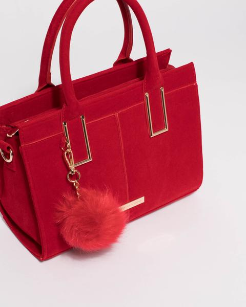 Red Velvet Stef Pom Pom Mini Bag u2013 Colette by Colette Hayman