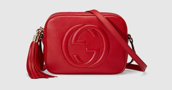 Soho small leather disco bag in Red leather | Gucci Women's Shoulder