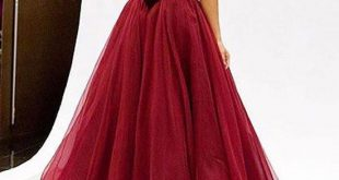 A Line Red Prom Dresses, Red Evening Dresses, Ball Gown u2013 abcprom