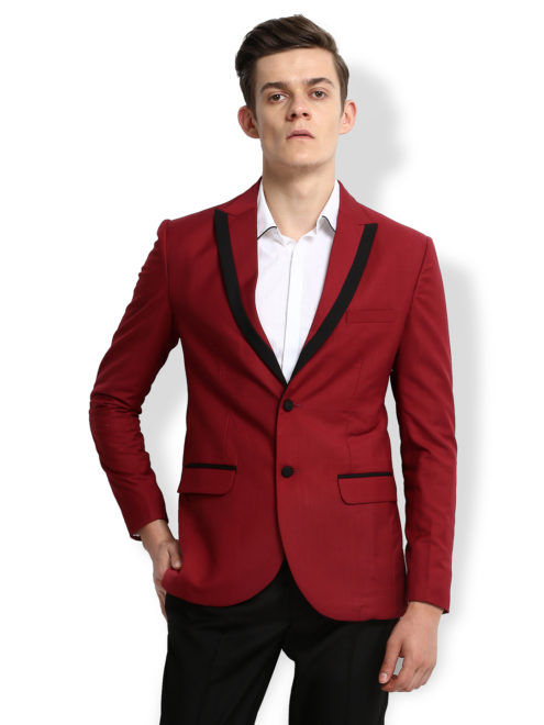 Red Blazer With Black Details