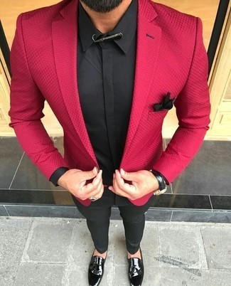 ASOS DESIGN Tall Skinny Suit Jacket In Scarlet Red, $51 | Asos