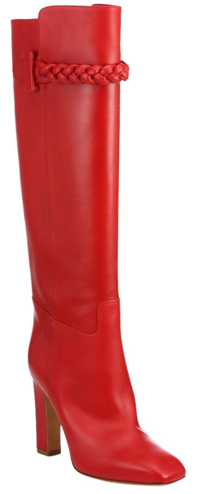 Valentino Red Tbc Braid Over The Knee Tall To Be Boots/Booties Size