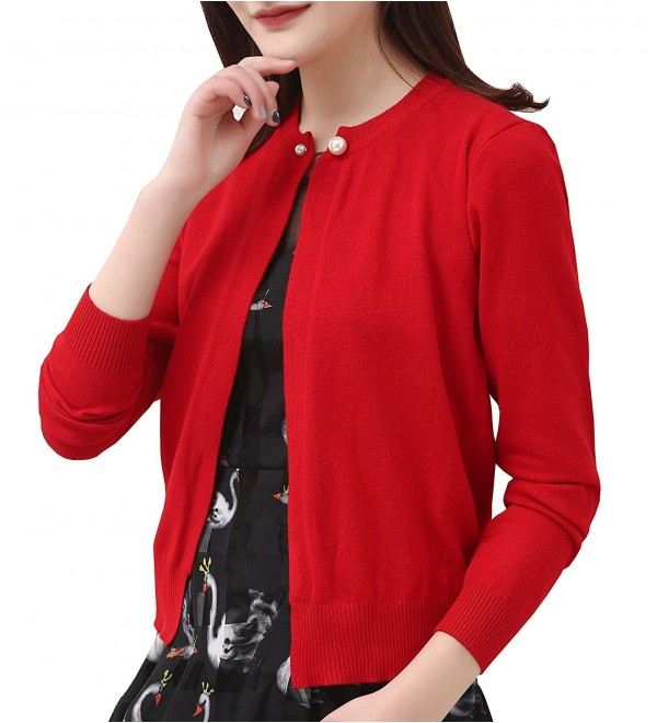 Womens Cardigans Sweater Vintage - Red Cardigan - CP182792DDI