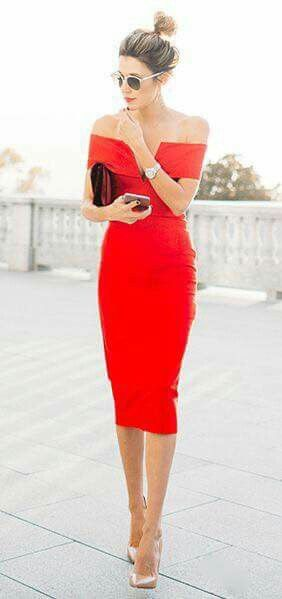 simple red dress, but absolutely stunning | threads. | Dresses