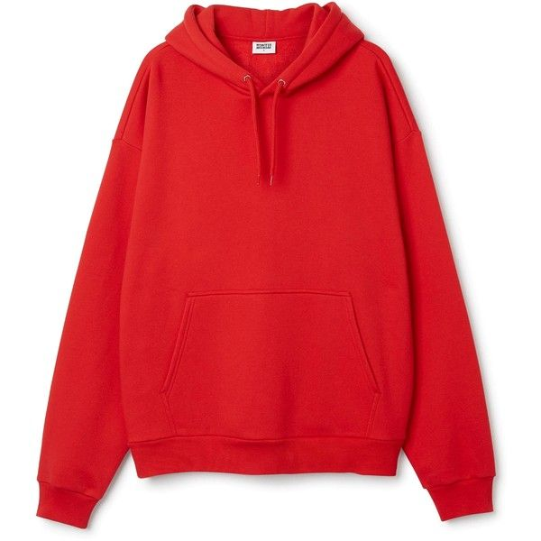 A red hoodie: casual part for fashionable men