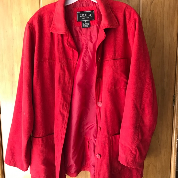 coaco Jackets & Coats | 450 4 For 50 Ladies Red Jacket | Poshmark