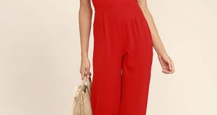 Chic Red Jumpsuit - Wide-Leg Jumpsuit - Woven Jumpsuit - $68.00