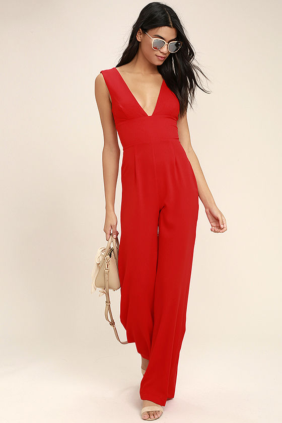 RED JUMPSUITS