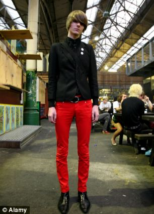 Red men's trousers: The scarlet trousers that have been branded a