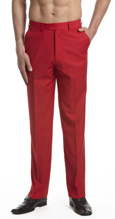 Men's Red Dress Pants | Concitor Mens Red Trousers