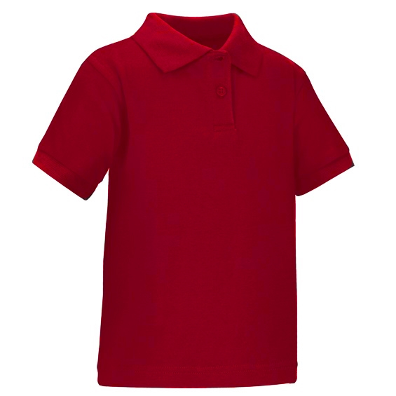 Wholesale Toddler Short Sleeve School Uniform Polo Shirt Red