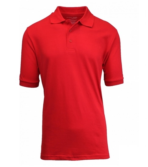Wholesale Adult Size Short Sleeve Pique Polo Shirt School Uniform in