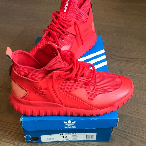 adidas Shoes | Red Sneakers | Poshmark