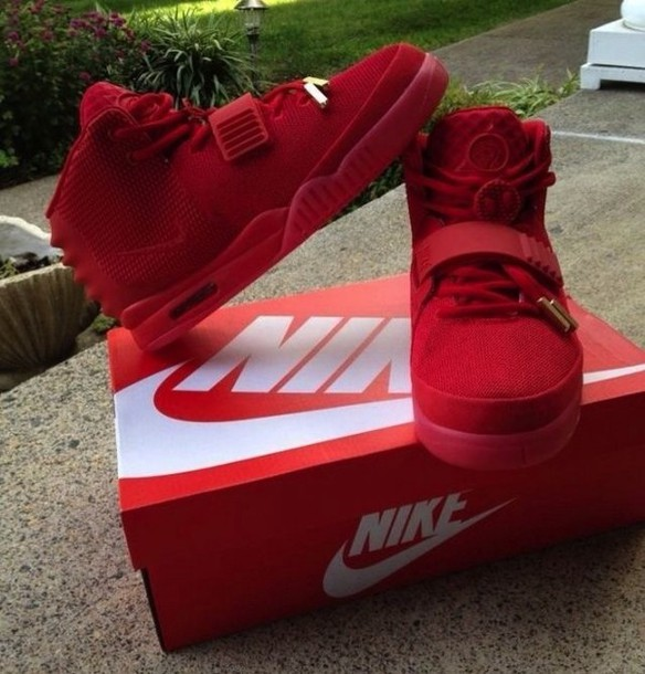 shoes, red sneakers, nike, suede, red, sneakers - Wheretoget
