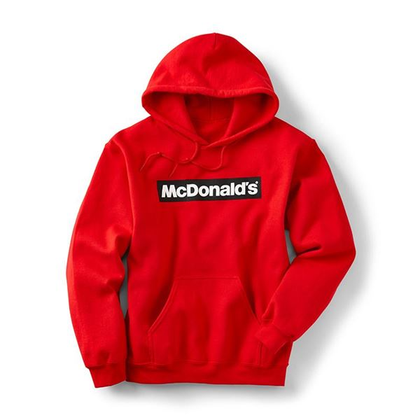 Block McDonald's Red Hoodie - Smilemakers | McDonald's approved