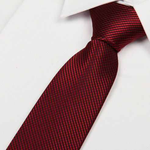 silk brand 2014 men's red tie for men Striped geometric 8cm casual