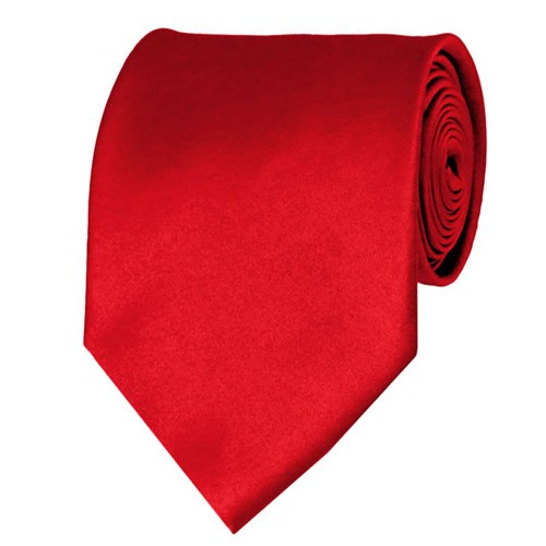Red Neckties Solid Color Ties - Stanard Adult Size - Wholesale
