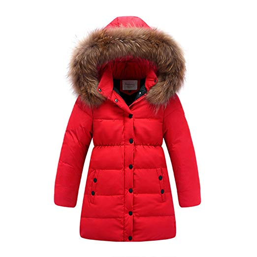 Amazon.com: LJYH Big Girls' Winter Down Parka Thick Hooded Outwear