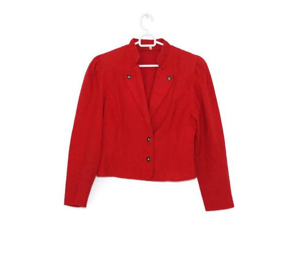 Red leather jackets for women