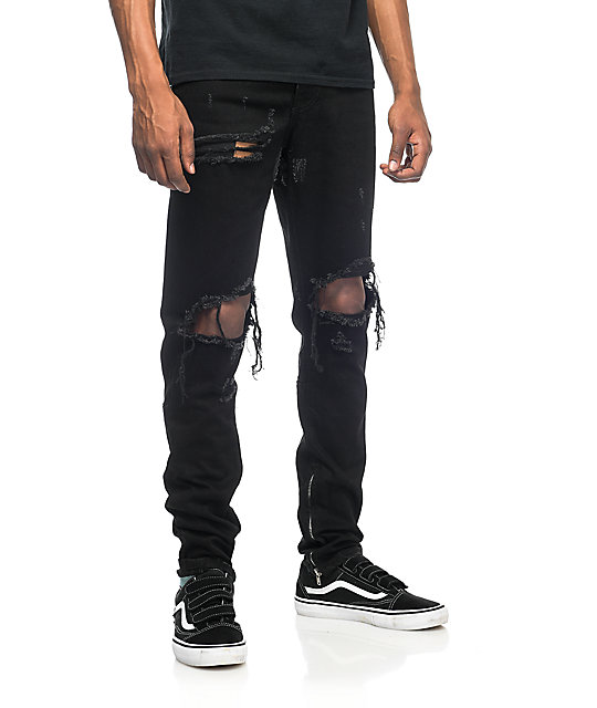 Crysp Denim Pacific Black Ripped Jeans | Zumiez