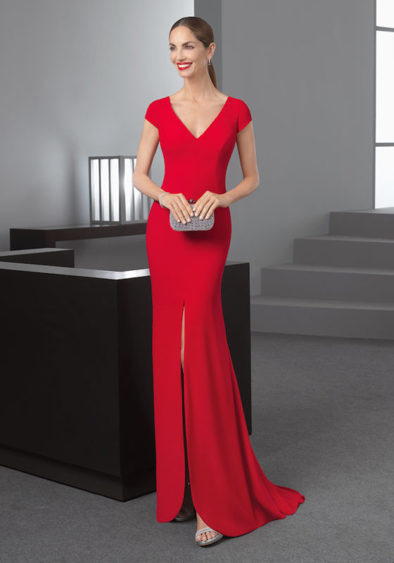 Rosa Clara Cocktail | Sexy Red Evening Dress | DBR Weddings