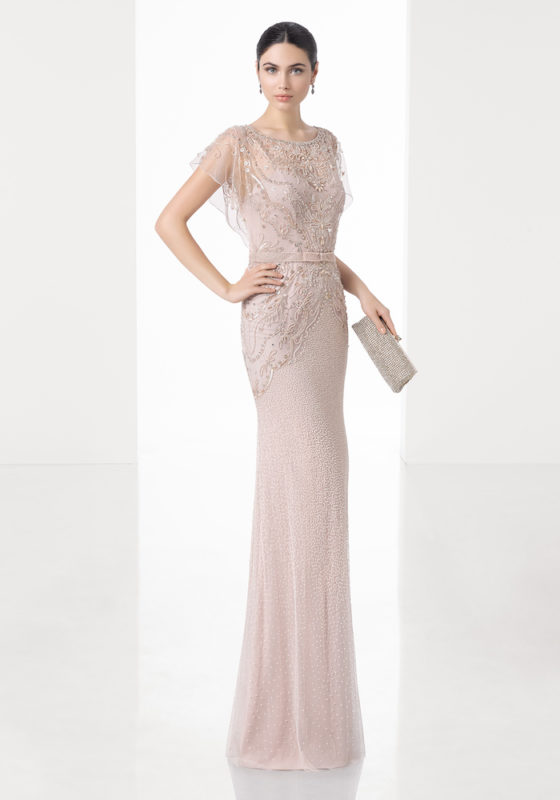 Rosa Clara Cocktail | Evening Gown in Pearl Detail | DBR Weddings