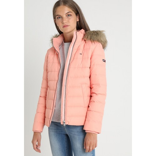 Down Jackets ESSENTIAL HOODED - Down jacket Tommy Jeans coral almond