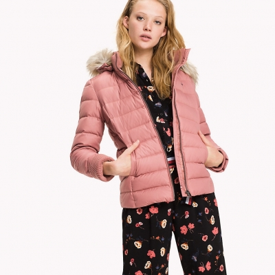 DW0DW00504 675 THDW BASIC DOWN JACKET 2 ROSA