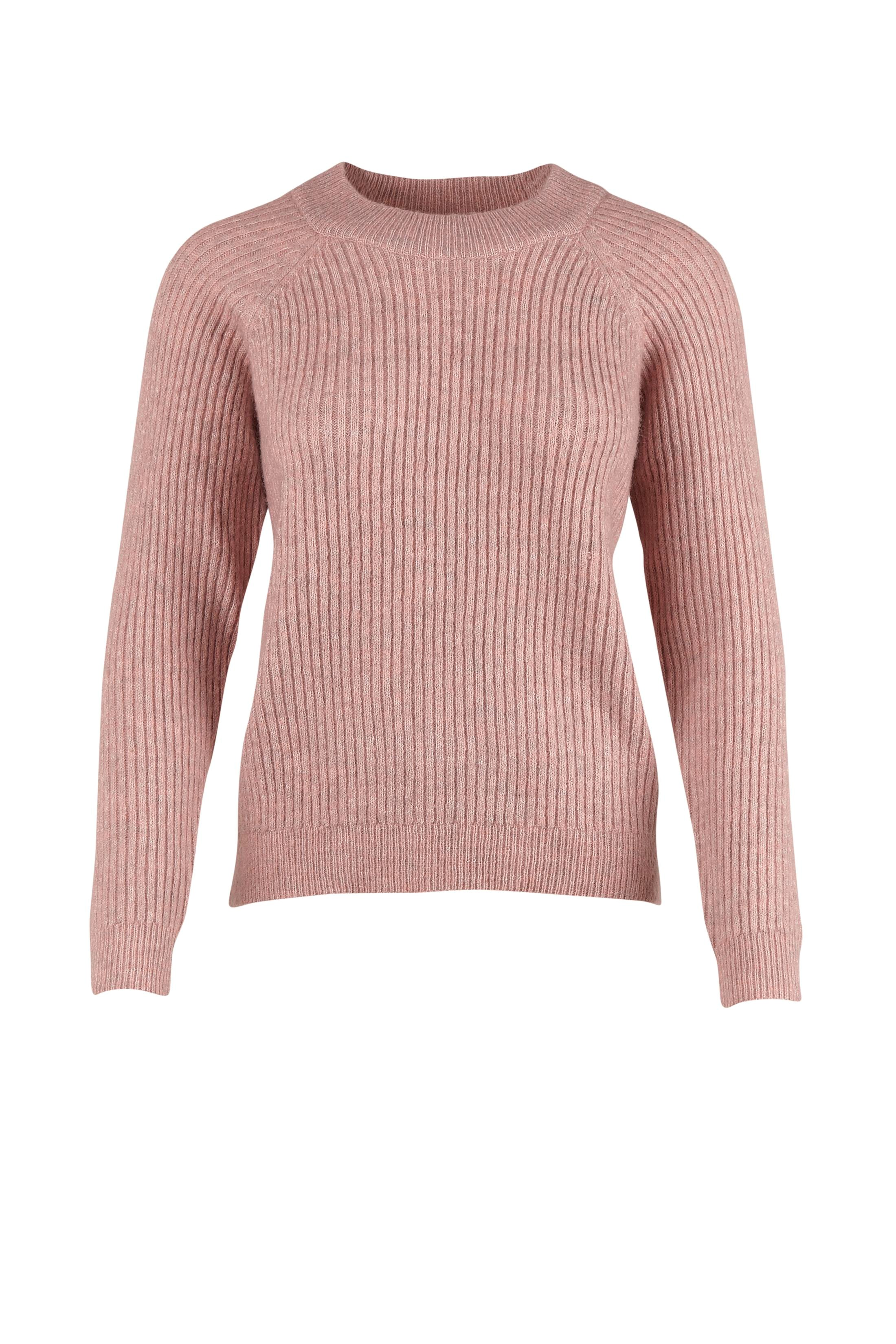 RIB KNIT SWEATER | ROSE