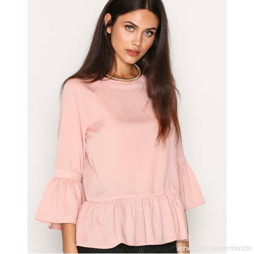 Pclaila 3/4 Top D2d - Pieces - Rosa - Tops - Kleidung - Damen Mode