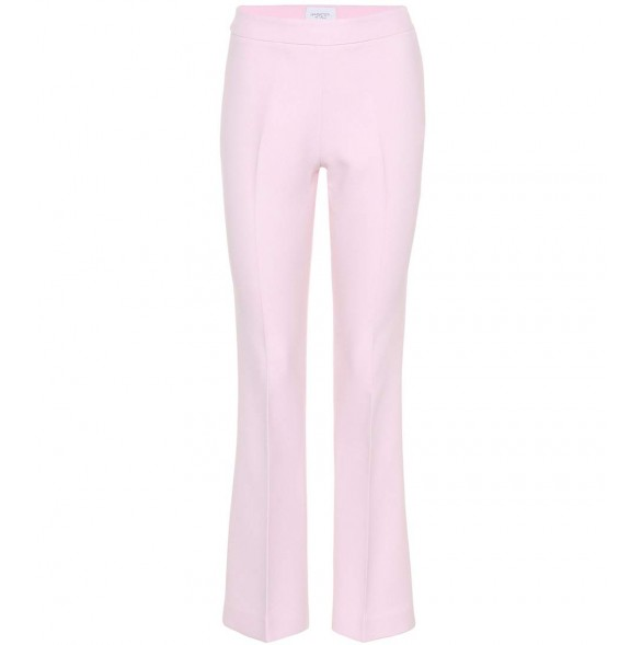 Low Cost Giambattista Valli Cotton-blend Cropped Trousers Rosa