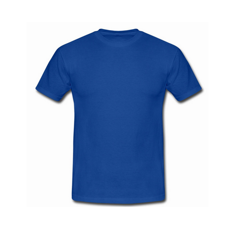 Mens Cotton Blue Round Neck T Shirts, Rs 95 /piece, Usha Creations